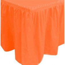 """Юбка для стола 75*400см """"Делюкс"""" оранжевый Sempertex"""