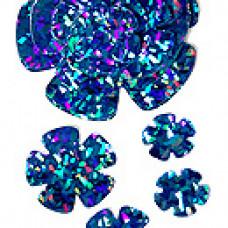Аксессуар д/декора набор из 24 цв, Голограф. синий 3,5-13,5см