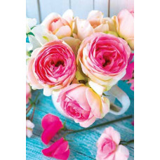 """Мини открытка """"Розы"""" 20шт"""