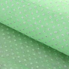 """Флизелин 60см*60см """"Серебряными крапинки"""" светло-зеленый 20шт"""