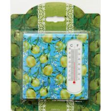 """Термометр декоративный 10*10см """"Лимоны"""" жидкостный бытовой в корпусе из керамики"""
