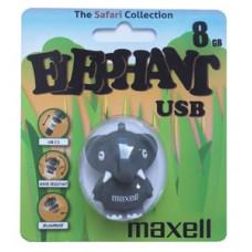 "Флеш-накопитель Maxell  USB 8GB ""Animal Collection Elephant"""