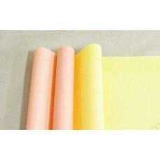 Бумага матовая двухсторонняя 70см*10м±10см оранжевый пастель/жёлтый пастель