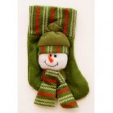 Новогоднее подвесное украшение Снеговик в Шапке из полиэстра 17x9 42535