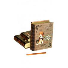 """Коробка карт. 253/105 наб. из 3 книг """"Верный друг"""" 10.3х7.2х2.8-16.7х13х5см"""