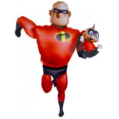 Шар (67''/170 см) Ходячая Фигура, Суперсемейка Мистер Исключительный, Красный, 1 шт. в упак. Anagram