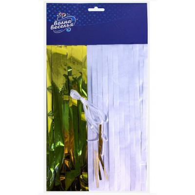 Гирлянда Тассел, Золото/Белый, 39*14 см, 10 листов