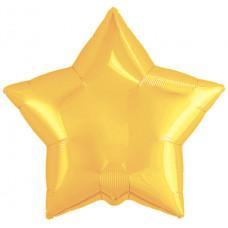 Шар (19''/48 см) Звезда, Светлое золото, 1 шт. Agura