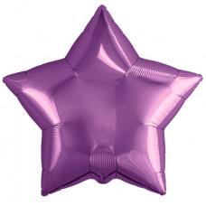 Шар (19''/48 см) Звезда, Фиолетовый, 1 шт. Agura