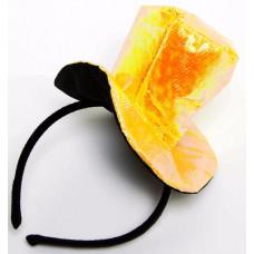 """Ободок """"Жёлтая шляпка"""" блестящий Весёлый Праздник"""