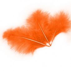 Перья 13-15см оранжевый 30шт