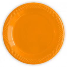 "Тарелка пластик. 23см ""Делюкс"" оранжевый 10шт Sempertex"