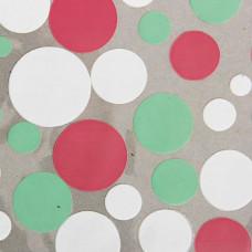 """Плёнка для цветов 50см*10м """"фейверк"""" белый/мятный/розовый"""