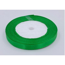 Лента атласная 1см*25ярд зеленый