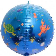 Шар (24''/61 см) Сфера 3D, Подводный мир, 1 шт. Falali