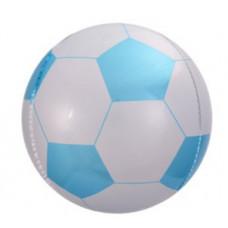 Шар (23''/58 см) Сфера 3D, Футбольный мяч, Голубой, 1 шт. Falali