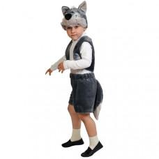 """Карнавальный костюм """"Волчонок"""" плюш лайт манишка рост 92-116 см"""