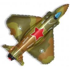 Шар (39''/99 см) Фигура, Истребитель, Военный, 1 шт. Flexmetal