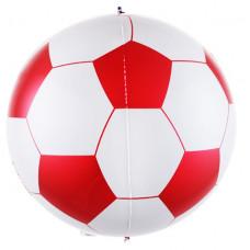 Шар (23''/58 см) Сфера 3D, Футбольный мяч, Красный, 1 шт. Falali