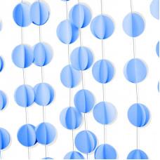 Гирлянда-подвеска Круг, Голубой, 200 см, 1 шт.
