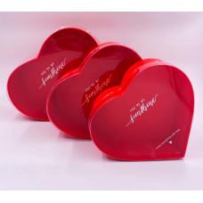 Коробка Сердце, Красный среднее, 1 шт.
