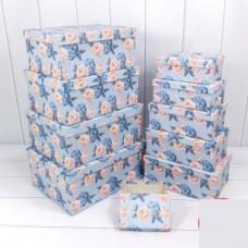 Коробка Гортензия и розы, Голубой, 30*22,8*13,3 см, 1шт.