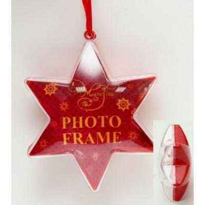 """Новогоднее ёлочное украшение из поливинилхлорида """"Звезда Красное сияние"""""""