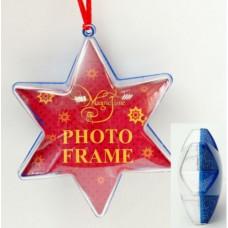 """Новогоднее ёлочное украшение из поливинилхлорида """"Звезда Синее сияние"""""""