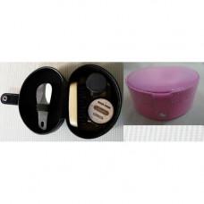 Набор Дорожный для обуви (Щетка, крем, ткань, ложка, губка) розовый