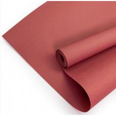 Упаковочная бумага, Крафт (0,7*10 м) Темно-розовый, 1 шт.
