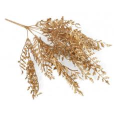 Ветка золото узорные листы 40 см