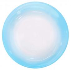 Шар (18''/46 см) Сфера 3D, Deco Bubble, Голубой спектр, Прозрачный, 1 шт. Falali