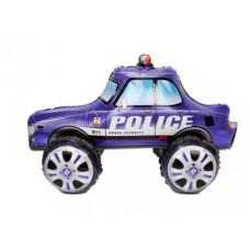 Шар (24''/61 см) Ходячая Фигура, Полицейская машина, Синий, 1 шт. в упак. Falali