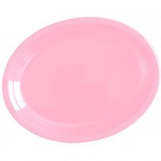 """Тарелки сервировочные пластиковые 32*25см """"Делюкс"""" розовый 5шт"""