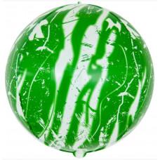 Шар (22''/56 см) Сфера 3D, Мрамор, Зеленый, 1 шт. Falali