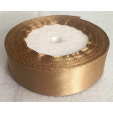 Лента атласная 4см*25ярд золото