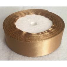 Лента атласная 2см*25ярд золото