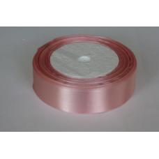 Лента атласная 2см*25ярд розовый