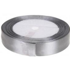Лента атласная 1см*25ярд серебро