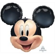 Шар (25''/64 см) Фигура, Голова, Микки Маус, 1 шт. в упак. Anagram