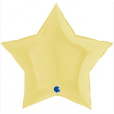 Шар (36''/91 см) Звезда, Макарунс, Желтый, 1 шт. Grabo