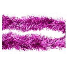 Мишура пушистая розовый матовый 11 см 2 м