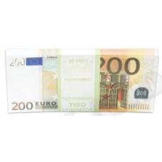 Шуточные деньги 200 евро 100шт/уп