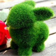 """Игрушка для букета """"Кролик"""" средний зелёный кит0063"""