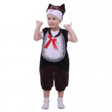 """Карн. костюм """"Котёнок"""" манишка комбинезон.шапка 1,5-3г 98см"""
