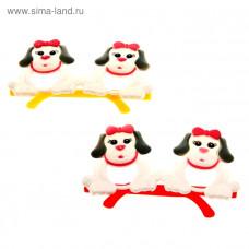 """Карнавальные очки детские """"Собачка с бантиком"""""""