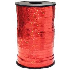 Лента Полипропилен голография 0,5см*250ярд красный