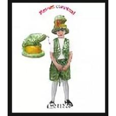 """Карнавальный костюм салатовый """"Кобра"""" шапка.накидка.юбка разм. L"""