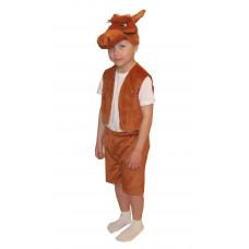 """Карнавальный костюм """"Лошадь"""" (шапка, желет, шорты) каштан, разм. М"""
