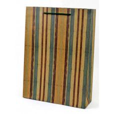 Пакет подарочный, Полосы, Крафт, 31*42*10 см, 1 шт.